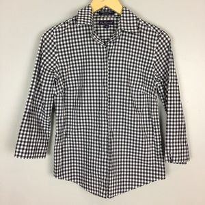 F. By Faconnable EUC Button Down Top Size XS  A58
